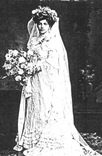 The Feathers, Furs and Wedding Dresses exhibition - Miss Grey's wedding dress 1905