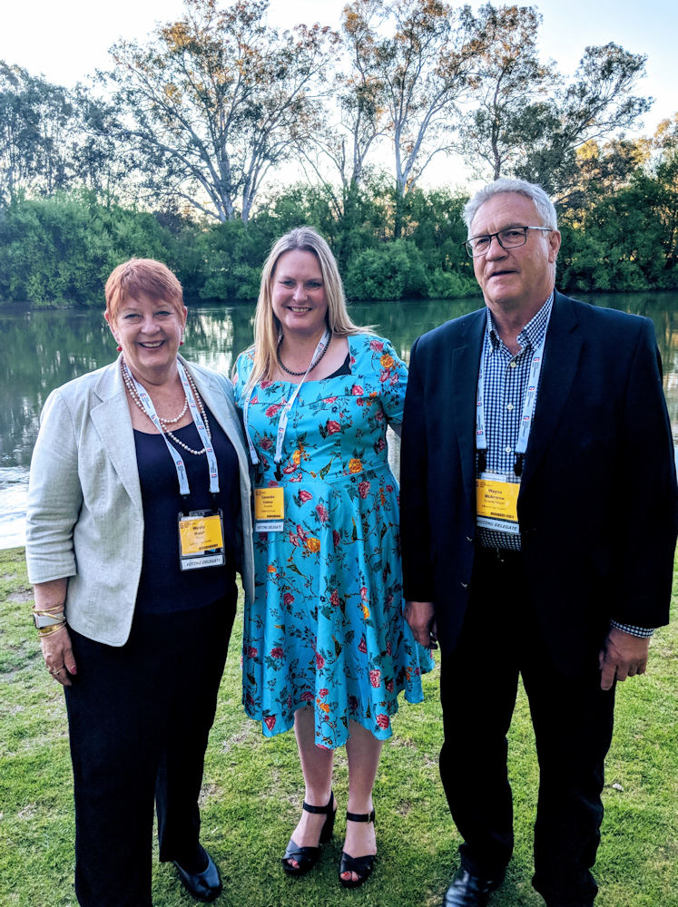 Wendy Waller Mayor of Liverpool Cr Coleman and Cr McAndrew at the Local Government Conference in Albury_