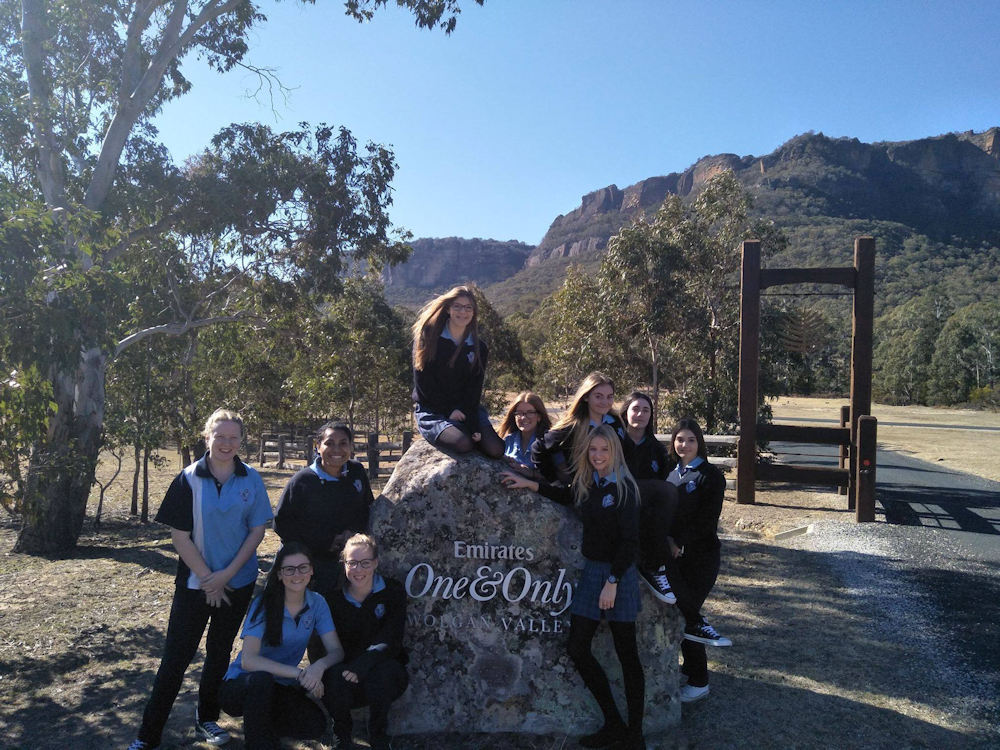 Lithgow High School students at Wolgan Valley