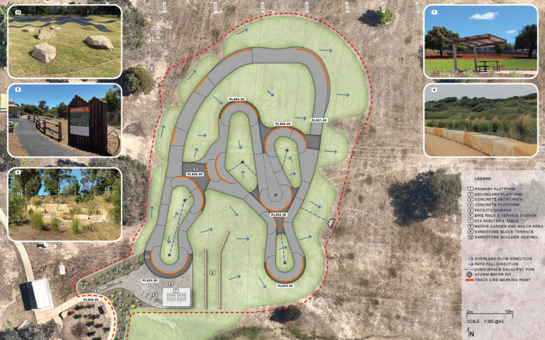 Lithgow Pump Track Concept Design on Exhibition